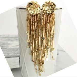 Kate Spade New York Gold Sequin & Beaded Tassel